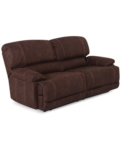 Jedd 2 piece fabric sectional sofa with 2 power recliners for Macy s reclining sectional sofa