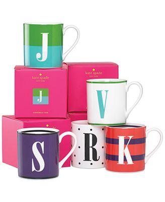kate spade new york Monogram Mug Collection