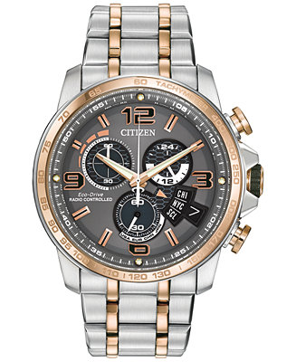 Citizen Men's Eco-Drive Chrono-Time A-T Two-Tone Stainless BY0106-55H