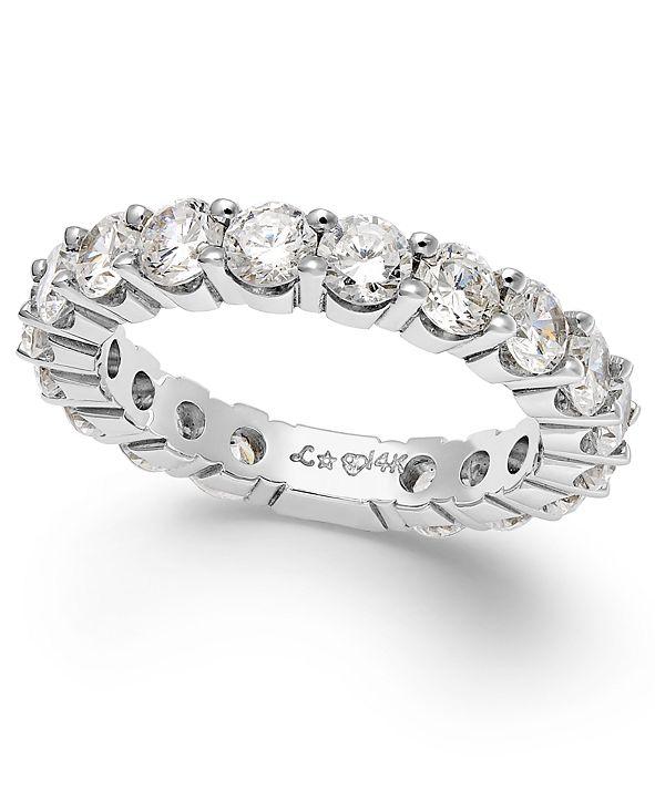 Macy's Sizeable Diamond Eternity Band in 14k White Gold (2 ct. t.w.)