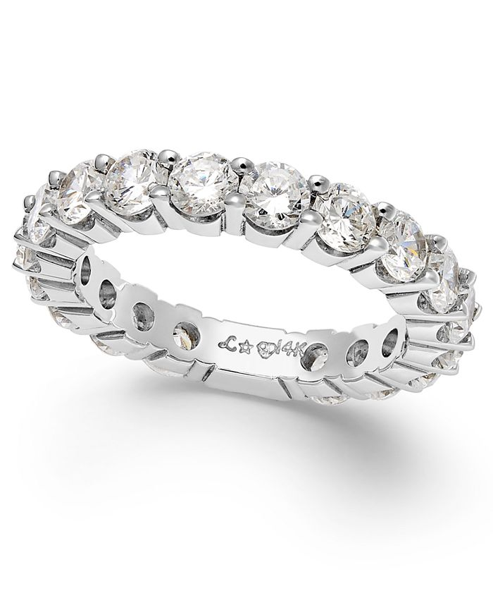 Macy's - Sizeable Diamond Eternity Band (2 ct. t.w.) in 14k White Gold