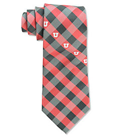 Eagles Wings Utah Utes Checked Tie