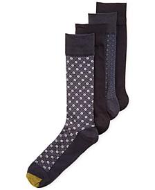 Men's Classic Mosaic Socks 4-Pack, Created for Macy's