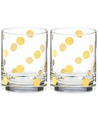 Pearl Place Set of 2 Double Old Fashion glasses