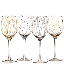Cheers Party Wine Glasses, Set of 4 - A Macy's Exclusive