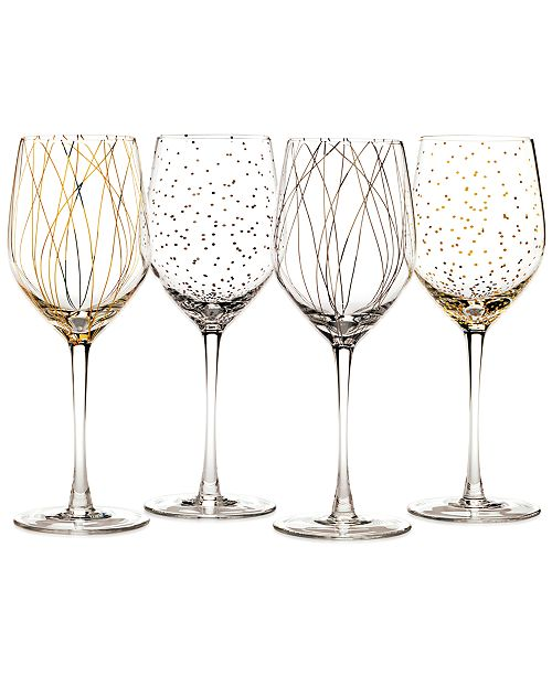 aa24d2fd1b2 Cheers Party Wine Glasses, Set of 4 - A Macy's Exclusive