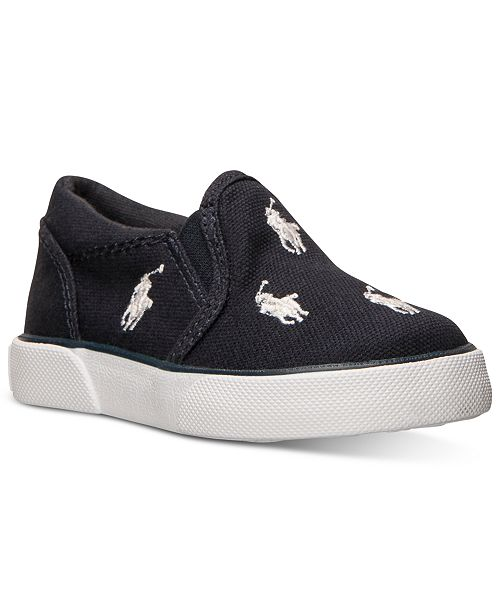 1cd9a67ae0adc ... Polo Ralph Lauren Baby Boys  Bal Harbour Repeat Layette Slip-On Crib  Casual Sneakers ...
