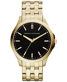 Men's Gold-Tone Stainless Steel Bracelet Watch 45mm AX2145