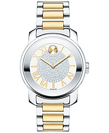 Women's Swiss Bold Two-Tone Stainless Steel Bracelet Watch 32mm 3600256