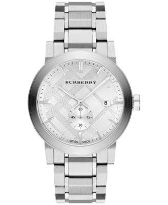 burberry clearance outlet vtox  Burberry Men's Swiss Stainless Steel Bracelet Watch 42mm BU9900