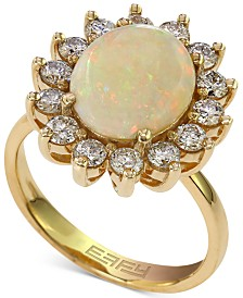 EFFY® Opal (1-7/8 ct. t.w.) and Diamond (1 ct. t.w.) Ring in 14k Gold