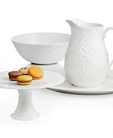 Lenox Serveware, Opal Innocence Carved Collection