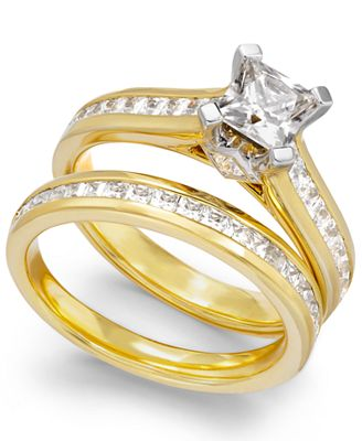 Certified Diamond Engagement Bridal Set in 14k Gold (2 ct. t.w.)