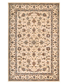 "Nourison Oval Area Rug, Wool & Silk 2000 2023 Ivory 7'6""x9'6"""