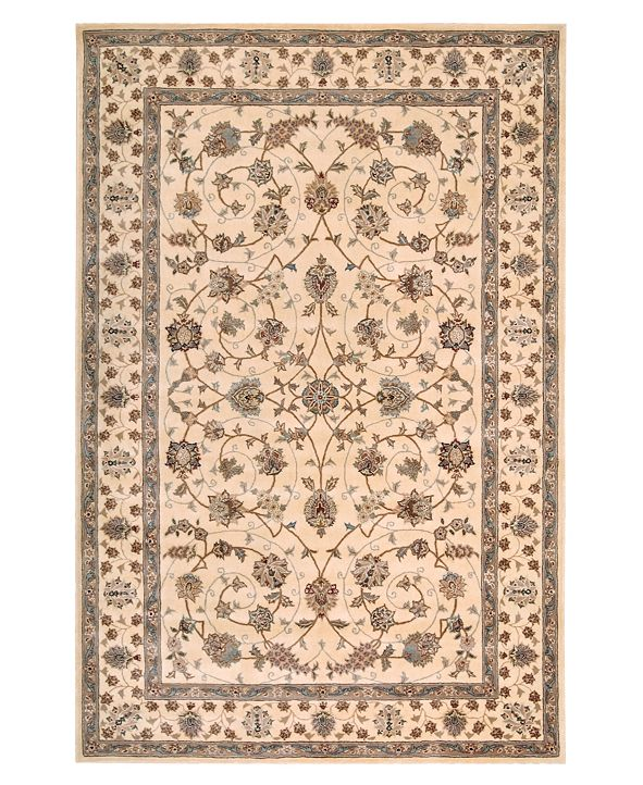 """Nourison Wool and Silk 2000 2023 Ivory 2'6"""" x 4'3"""" Area Rug"""