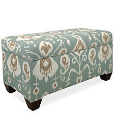 Calistoga Java Fabric Storage Bench, Quick Ship