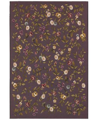 "Indoor/Outdoor Area Rug, Dolce 4087/2413 Gardenia Black-Multi 2'3"" x 3'11"""