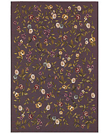 "Couristan Indoor/Outdoor Runner Rug, Dolce 4087/2413 Gardenia Black-Multi 2'3"" x 7'10"""