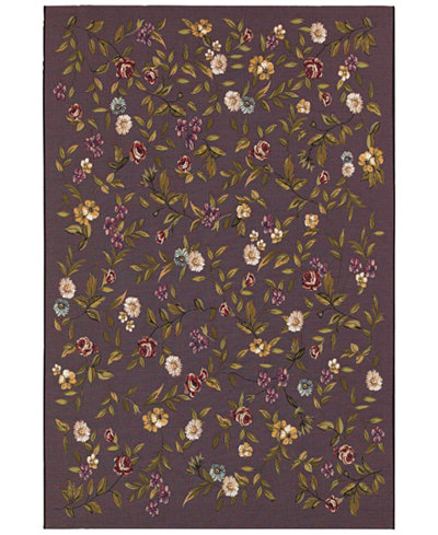 Couristan Indoor/Outdoor Area Rug, Dolce 4087/2413 Gardenia Black-Multi 4' x 5'10