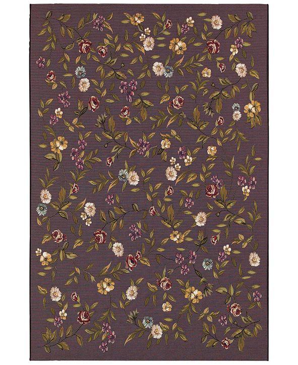 Couristan Indoor/Outdoor Area Rugs, Dolce 4087/2413 Gardenia Black-Multi