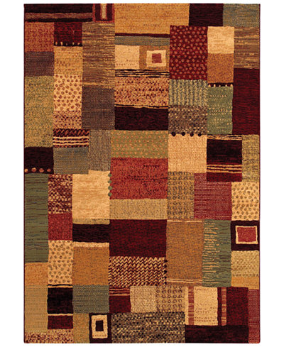 Couristan Area Rug, Taylor Maribel Mustard-Multi 7'10
