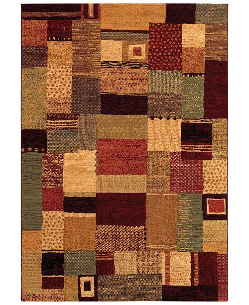 "Couristan Area Rug, Taylor Maribel Mustard-Multi 7'10"" x 11'2"""