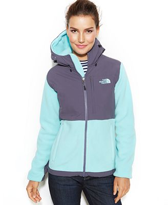 The North Face Hooded Denali Fleece Jacket - Jackets - Women - Macy's