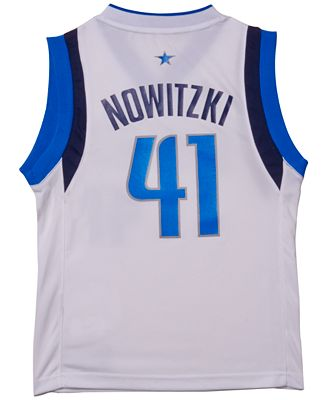 adidas Boys' Dirk Nowitzki Dallas Mavericks Revolution 30 Jersey
