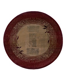 Round Area Rug, Generations 544X Shadow Vine 6'