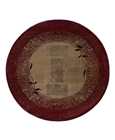 Oriental Weavers Round Area Rug, Generations 544X Shadow Vine 6'