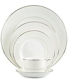 Monique Lhuillier Waterford Dinnerware, Etoile Platinum 5 Piece Place Setting