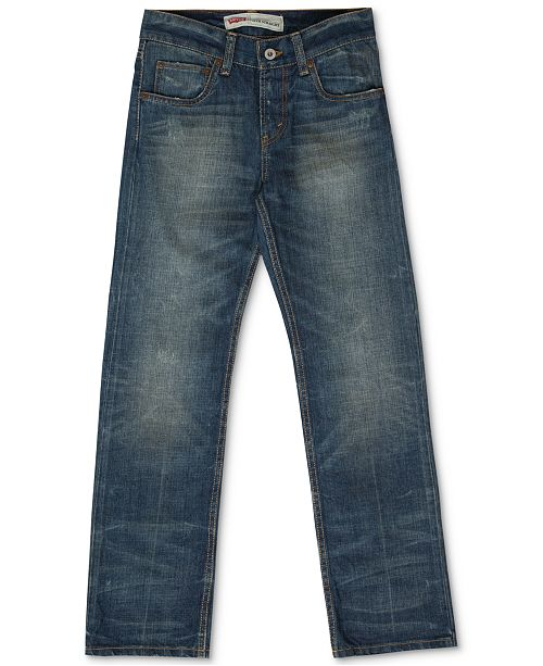 2642a3d6 Levi's 514 Straight Fit Jeans, Big Boys & Reviews - Jeans - Kids - Macy's
