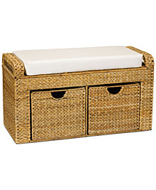 Household Essentials Cushioned Storage Bench