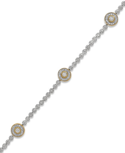 Diamond Circle Bracelet in 14k Gold over Sterling Silver (1/2 ct. t.w.)