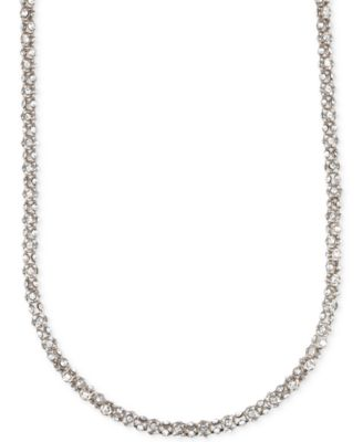 Image of Anne Klein Crystal Pavé Tubular Strand Necklace