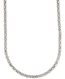 Anne Klein Crystal Pavé Tubular Strand Necklace