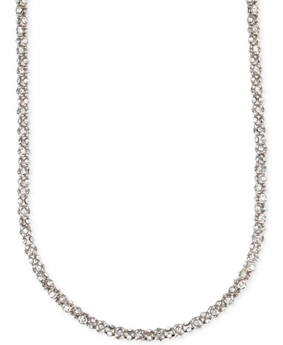 Anne Klein Crystal Pavé Tubular Strand Necklace