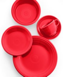 Fiesta Scarlet 5 Piece Place Setting Dinnerware Dining