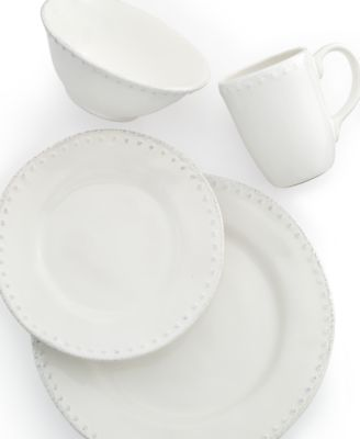 Maison Versailles Dinnerware Blanc Brigette 4 Piece Place Setting ...  sc 1 st  French-Luxury.com & French country dinnerware for relaxed entertaining and family meals.