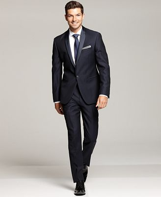Ryan Seacrest Distinction Navy Tuxedo Separates