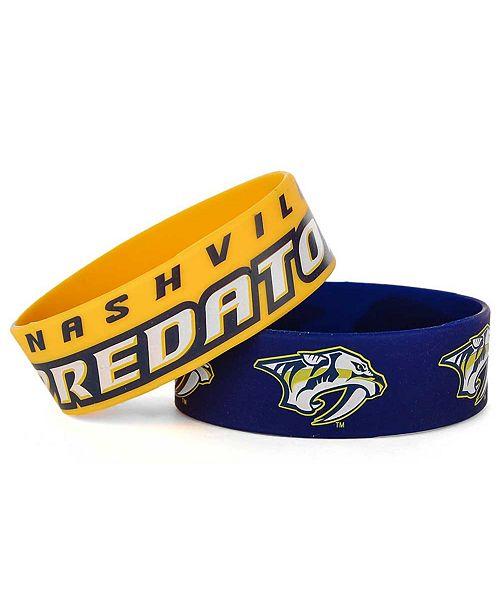 Aminco Nashville Predators 2-Pack Wide Bracelets