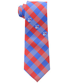 Eagles Wings New York Rangers Checked Tie