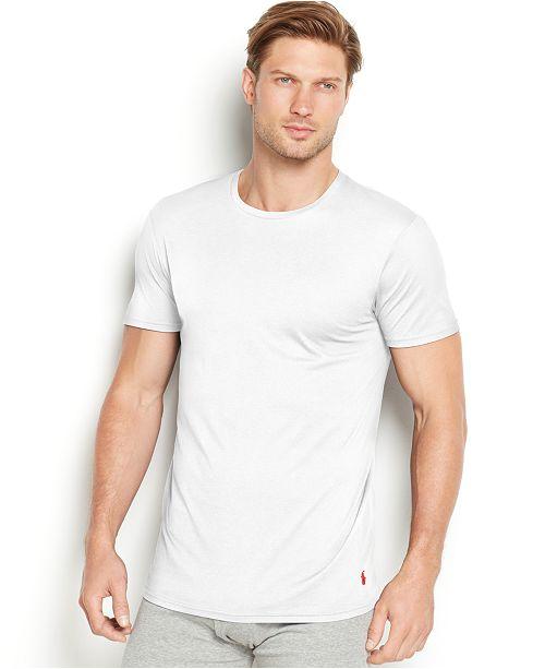Polo Ralph Lauren Men S Supreme Comfort Crew Neck T Shirt 2 Pack
