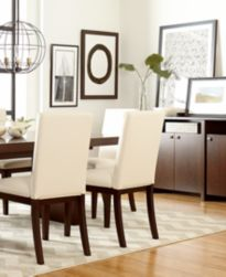 Bari Dining Chair Black Leather Furniture Macy 39 S