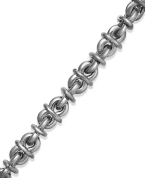Men's Knot Link Bracelet in Stainless Steel