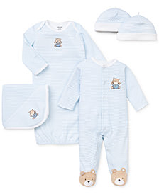 Little Me Baby Boys Chevron Bear Bundle