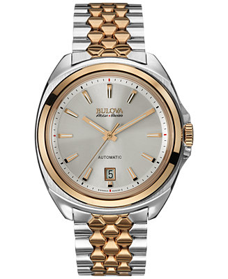 Bulova AccuSwiss Men's Automatic Telc Two-Tone Stainless