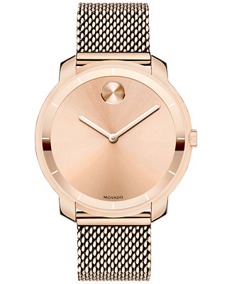 Movado Unisex Swiss Bold Rose Gold Ion-Plated 3600243