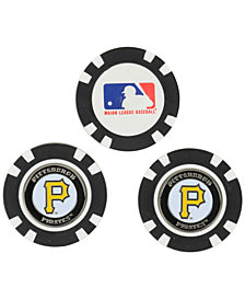 Team Golf Pittsburgh Pirates 3-Pack Poker Chip Golf Markers