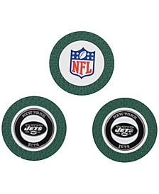 New York Jets 3-Pack Poker Chip Golf Markers